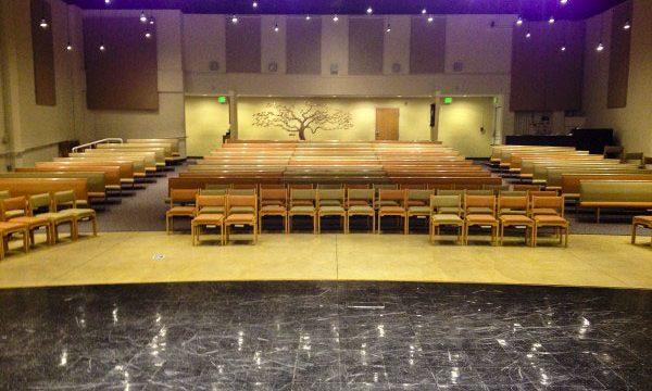 Auditorium seating at Glaser Center event space.